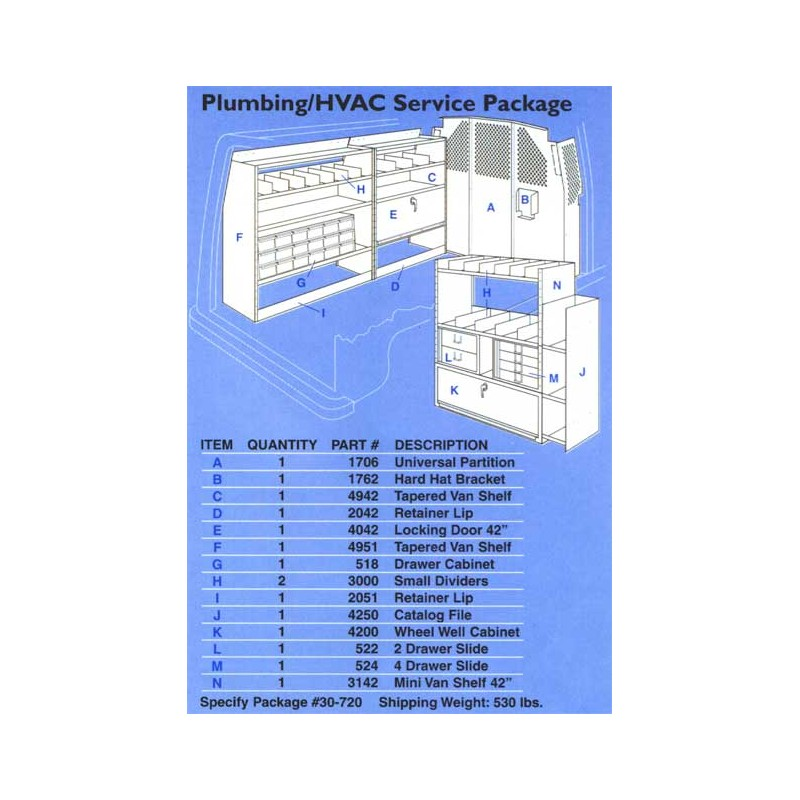 Plumbing Hvac Service Pkg Full Size Van Goamericantruck