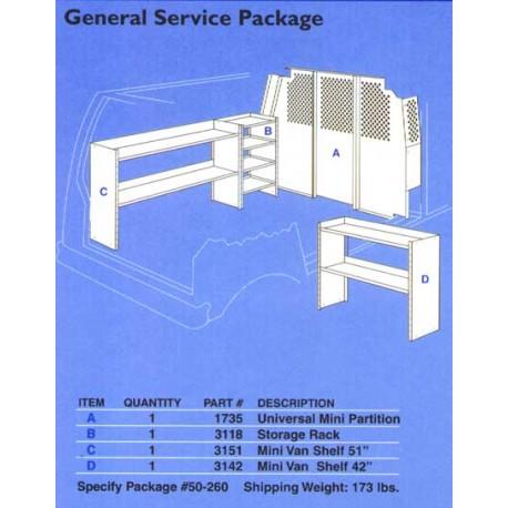 GENERAL SERVICE PKG. MINI VAN EXTENDED