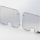 Ranger Design Set of 2 rear window grills, steel wire painted black, Ford E-Series