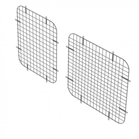 Ranger Design Set of 2 side window grills, steel wire painted black, GM Savana / Express