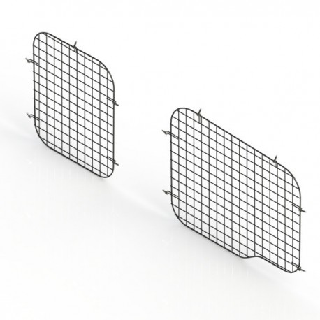 Ranger Design Set of 2 rear window grills, steel wire painted black, RAM ProMaster City