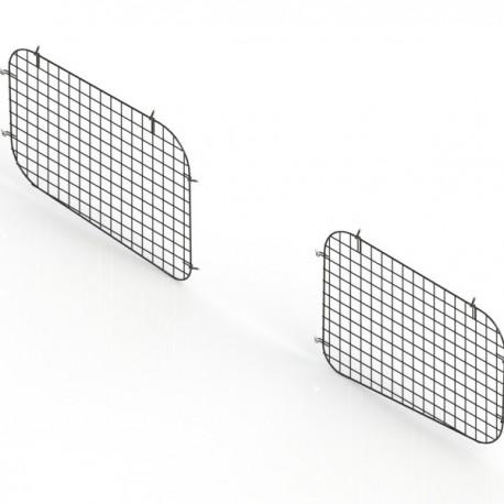 Ranger Design Set of 2 sliding door window grills, steel wire painted black, RAM ProMaster City