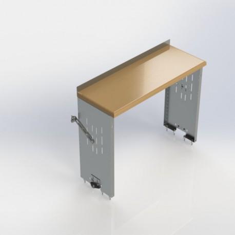 """Ranger Design Workbench, aluminum w/hardwood top, no shelves, 18\\""""d x 48\\""""w x 36\\""""h"""