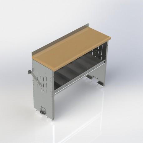 "Ranger Design Workbench, aluminum w/hardwood top, 1 shelf, 18\\""d x 48\\""w x 36\\""h"