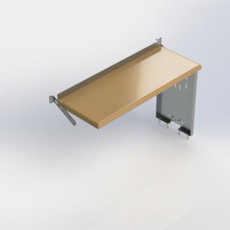 "Ranger Design Workbench, aluminum w/hardwood top, one end panel, 18\\""d x 48\\""w x 28\\""h"