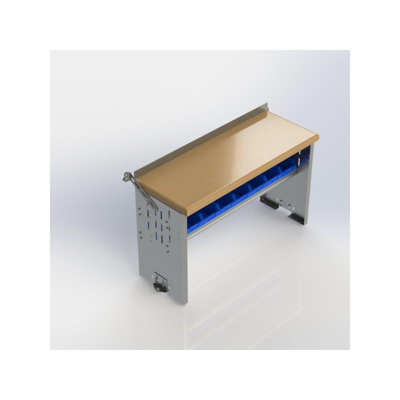 Ranger Design Workbench Aluminum W Hardwood Top 2 Bin