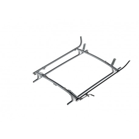 Ranger Design Double Clamp Ladder Rack, Aluminum, 2 Bar, Mercedes Metris
