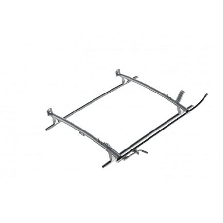 Ranger Design Single Clamp Ladder Rack, Aluminum, 2 Bar, Mercedes Metris