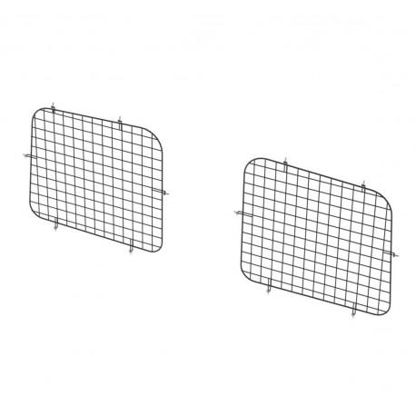 Ranger Design Set Of 2 Rear Window Grills, Steel Wire Painted Black, Mercedes Metris