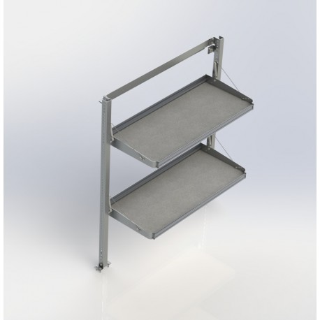 Ranger Design Fold-Away Cargo Van Foldable Shelving System