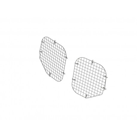 Ranger Design Set Of 2 Rear Window Grills, Steel Wire Painted Black, Ford Transit Connect
