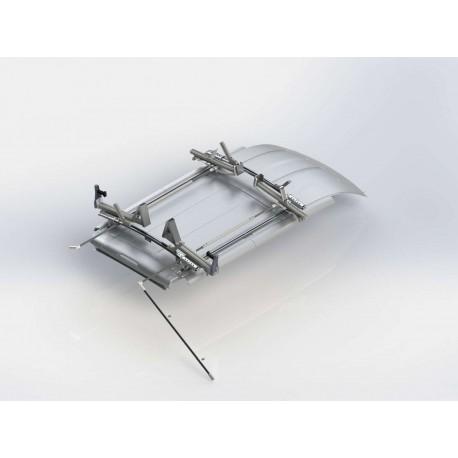 """Ranger Design Double Side Max Rack, Aluminum, 2 Bar, Ram ProMaster 118\\"""" Wheelbase"""