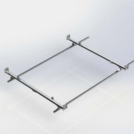 Ranger Design Cargo Rack, aluminum, 2 bar, Nissan NV Standard Roof