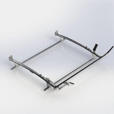Ranger Design Single clamp ladder rack, aluminum, 2 bar, Ram ProMaster City