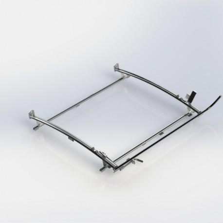 """Ranger Design Single clamp ladder rack, aluminum, 2 bar, Ram ProMaster 118\\"""" Wheelbase"""