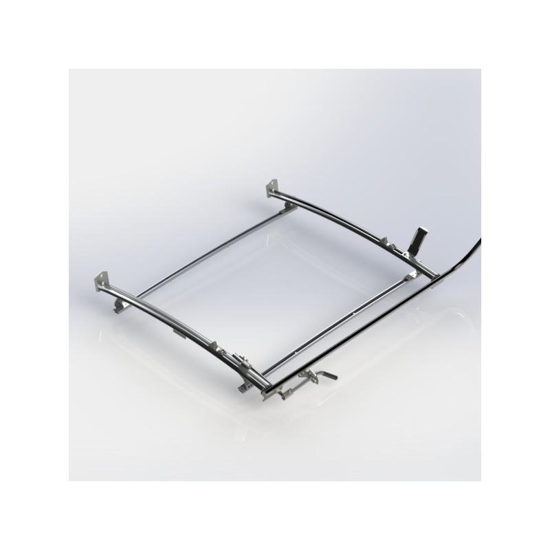 ranger design single clamp ladder rack aluminum 2 bar ford trans goamericantruck. Black Bedroom Furniture Sets. Home Design Ideas