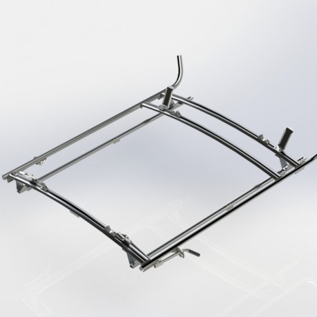 Ranger Design Combination ladder rack, aluminum, 2 bar, Ford Transit RWB