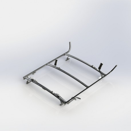 Ranger Design Combination ladder rack, aluminum, 2 bar, Ram CV / Universal Fit