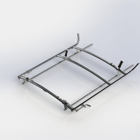 Ranger Design Combination ladder rack, aluminum, 2 bar, Nissan NV Standard Roof