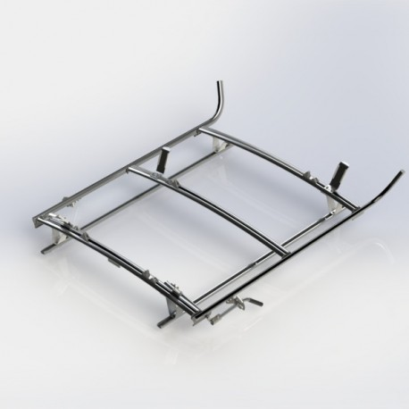 Ranger Design Combination ladder rack, aluminum, 2 bar, Ram ProMaster City
