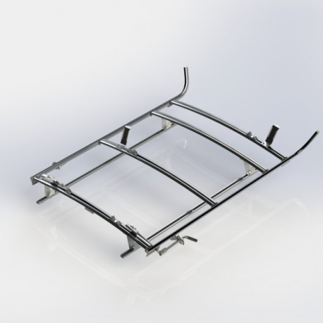 Ranger Design Combination ladder rack, aluminum, 3 bar, Ram ProMaster City