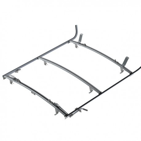 Ranger Design Double clamp ladder rack, aluminum, 3 bar, Sprinter / Universal Fit