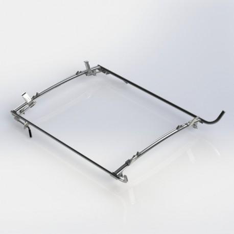 Ranger Design Double clamp ladder rack, aluminum, 2 bar, GM/Ford Full-Size Van