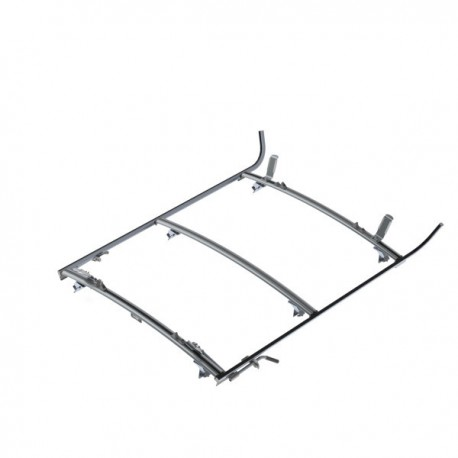 Ranger Design Double clamp ladder rack, aluminum, 3 bar, GM/Ford Full-Size Van