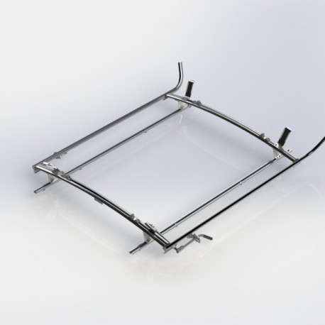 Ranger Design Double clamp ladder rack, aluminum, 2 bar, Ford Transit LWB