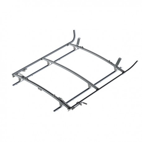 Ranger Design Double clamp ladder rack, aluminum, 3 bar, Ford Transit LWB