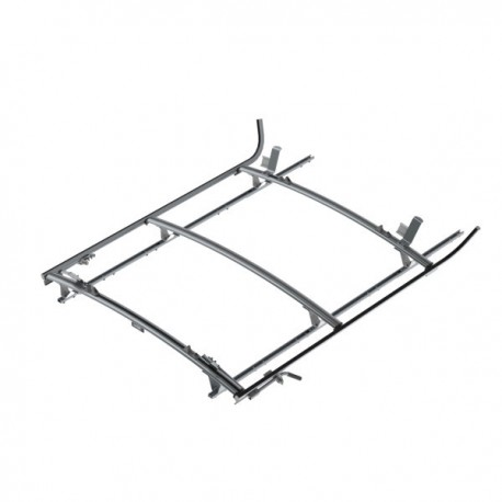 Ranger Design Double clamp ladder rack, aluminum, 3 bar, Nissan NV Standard Roof