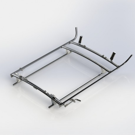 Ranger Design Double clamp ladder rack, aluminum, 3 bar, Ram ProMaster City