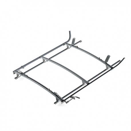 "Ranger Design Double clamp ladder rack, aluminum, 3 bar, Ram ProMaster 136\"" Wheelbase"