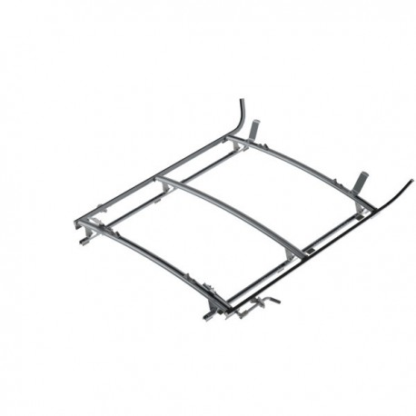 """Ranger Design Double clamp ladder rack, aluminum, 3 bar, Ram ProMaster 118\\"""" Wheelbase"""
