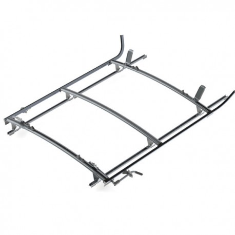 "Ranger Design Double clamp ladder rack, aluminum, 3 bar, Ram ProMaster 159\"" Wheelbase Extended"