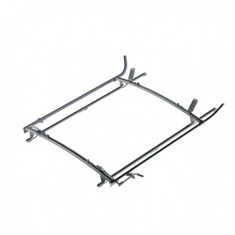 "Ranger Design Double clamp ladder rack, aluminum, 2 bar, Ram ProMaster 136\"" Wheelbase"