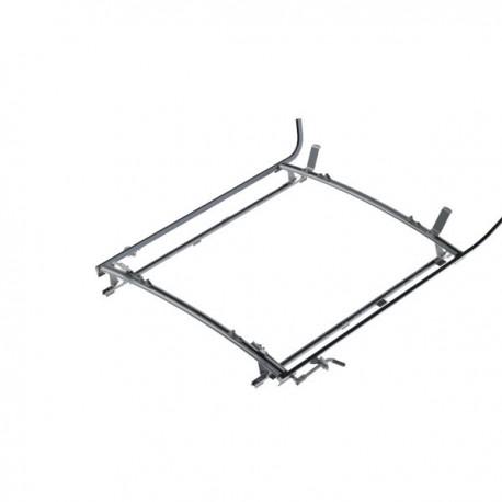 """Ranger Design Double clamp ladder rack, aluminum, 2 bar, Ram ProMaster 118\\"""" Wheelbase"""