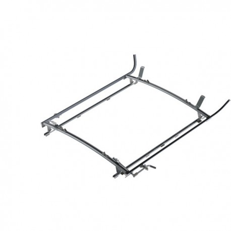 "Ranger Design Double clamp ladder rack, aluminum, 2 bar, Ram ProMaster 159\"" Wheelbase Extended"