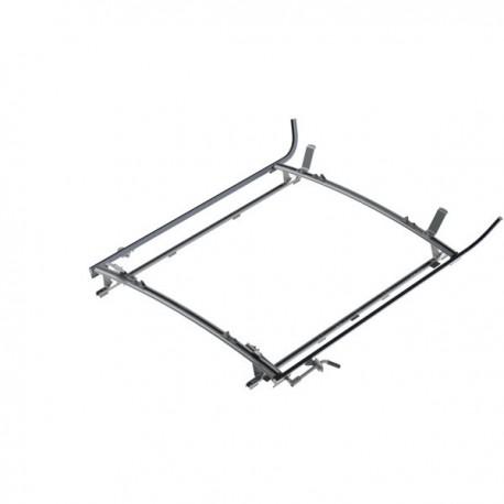 """Ranger Design Double clamp ladder rack, aluminum, 2 bar, Ram ProMaster 159\\"""" Wheelbase Extended"""