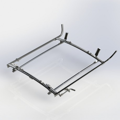 Ranger Design Double clamp ladder rack, aluminum, 2 bar, Ford Transit Connect