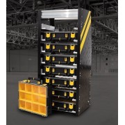 The Partskeeper Parts Organizer Storage Cabinet w/ 8 Carry Cases